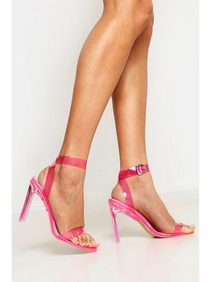 Boohoo Clear Heel 2 Part Heels