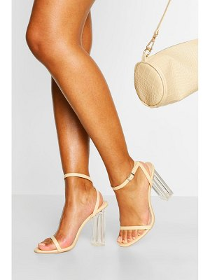 Boohoo Clear Heel Skinny Strap Two Parts
