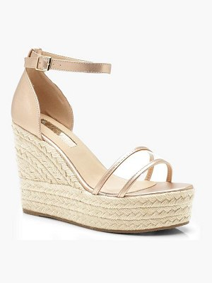 Boohoo Clear Panel Espadrille Wedges