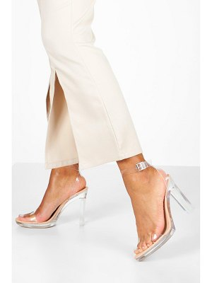 Boohoo Clear Platform Two Part Heels