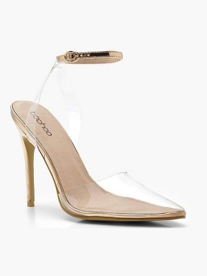 Boohoo Clear Pointed Court Shoes
