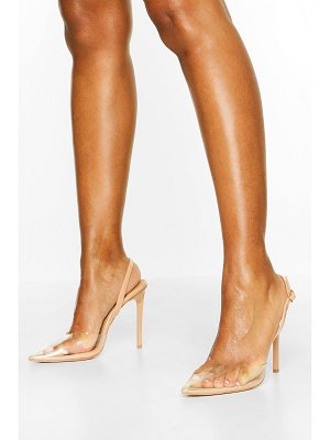 Boohoo Clear Pointed Heel Courts