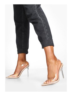 Boohoo Clear Pointed Toe Stiletto Heel Courts