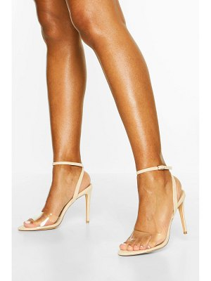 Boohoo Clear Strap Stiletto 2 Part Heels
