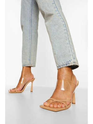Boohoo Clear Strappy Mule