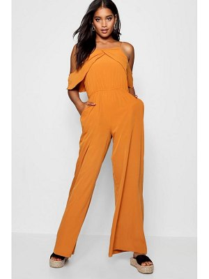Boohoo Cold Shoulder Jumpsuit