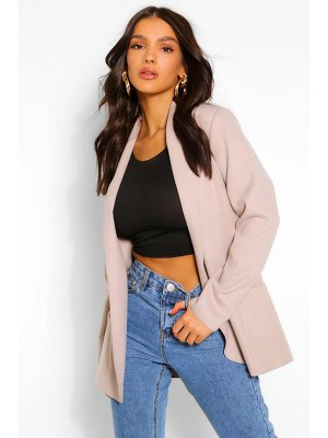 Boohoo Collared Lightweight Wool Look Coat