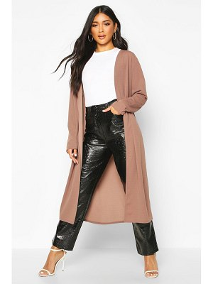 Boohoo Collarless Duster Coat