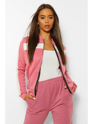Boohoo Colour Block Arm And Chest Bomber Jacket