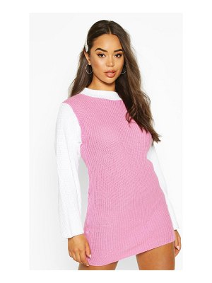 Boohoo Colour Block Knitted sweater Dress