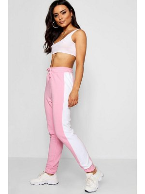 Boohoo Colour Block Stripe Jogger