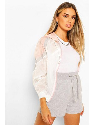 Boohoo Colourblock Hooded Windbreaker