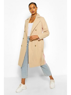 Boohoo Contrast Colour Trench Coat