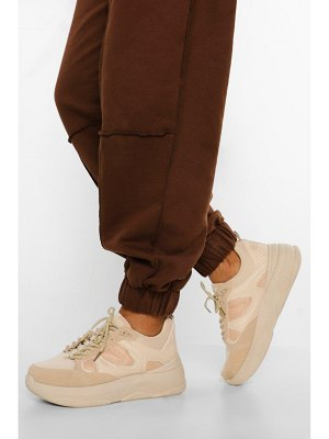 Boohoo Contrast Panel Chunky Sole Sneakers