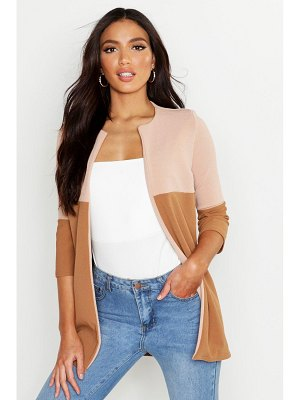 Boohoo Contrast Panel Lightweight Duster