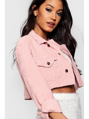Boohoo Cord Crop Denim Jacket