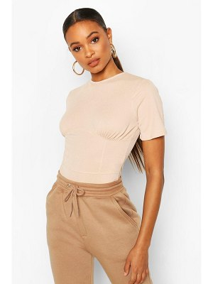 Boohoo Corset Detail Band Neck One Piece