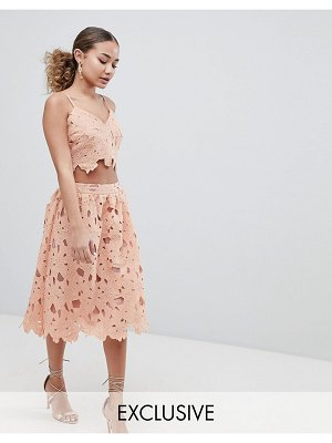 Boohoo crochet lace midi skirt