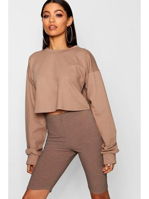 Boohoo Crop Oversized Sweat