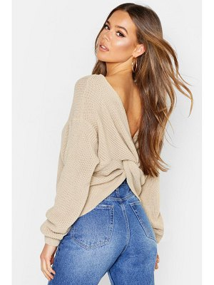 Boohoo Crop Twist Sweater