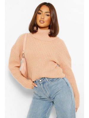 Boohoo Cropped Roll Neck Sweater