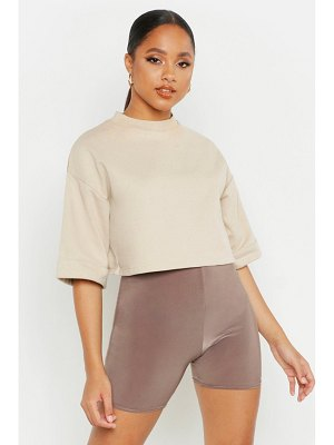 Boohoo Cropped Utility Pocket Oversized Sweatshirt