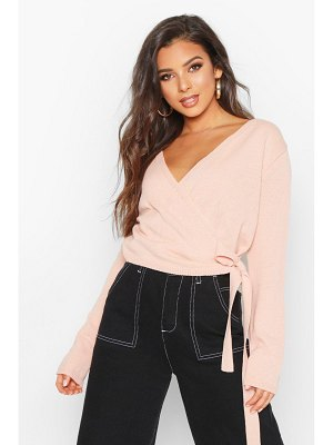 Boohoo Cropped Wrap Cardigan