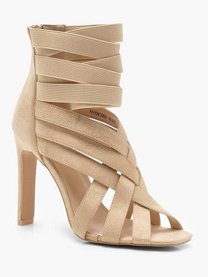 Boohoo Cross Strap Cage Sandals