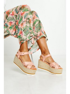 Boohoo Cross Strap Espadrille Wedges