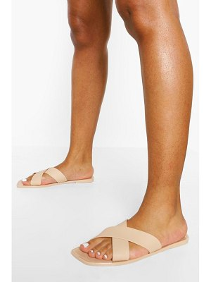 Boohoo Cross Strap Jelly Slider