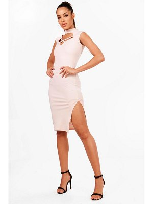 Boohoo Crossover neck Detail Midi Dress
