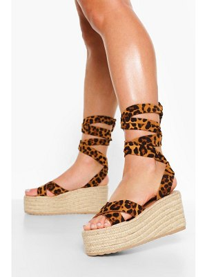 Boohoo Crossover Wrap Up Wedge
