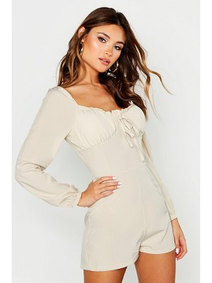 Boohoo Cupped Long Sleeve Romper