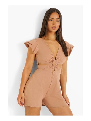 Boohoo D-Ring Cut Out Rompers