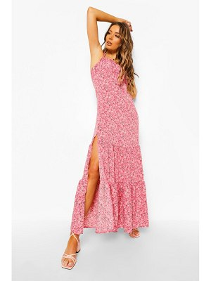 Boohoo Ditsy Floral Gathered Bust Strappy Maxi Dress