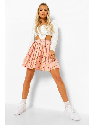 Boohoo Ditsy Floral Pleated Skater Skirt