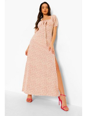 Boohoo Ditsy Floral Side Split Maxi Dress