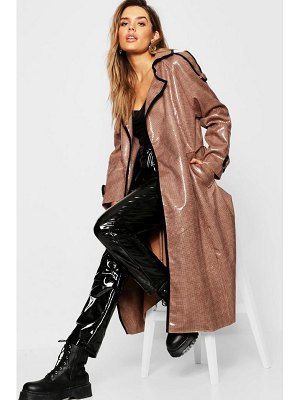 Boohoo Dog Tooth Midaxi High Shine Mac