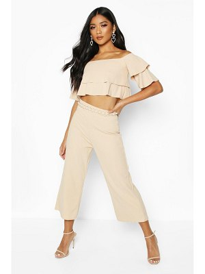 Boohoo Double Bandeau Top & Culotte Co-Ord Set