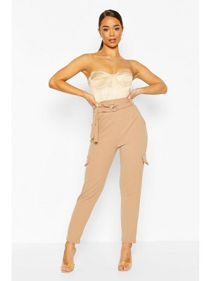 Boohoo Double Belted Cargo Trouser