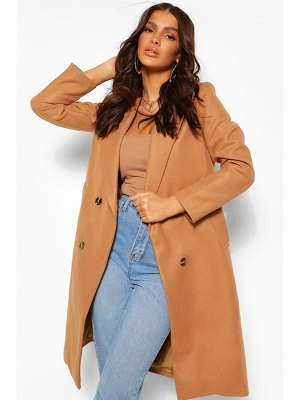 Boohoo Double Breasted Boyfriend Wool Look Coat