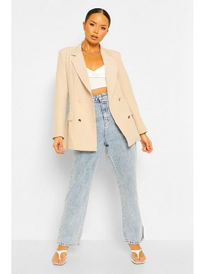 Boohoo Double Breasted Military Blazer
