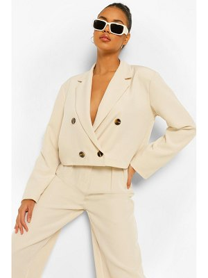 Boohoo Double Breasted Oversized Cropped Blazer