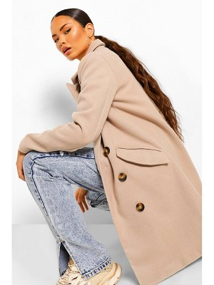 Boohoo Double Breasted Tailored Wool Look Coat