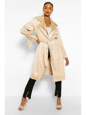 Boohoo Double Layer Oversized Trench Coat
