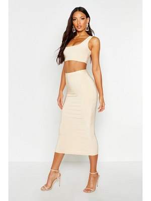 Boohoo Double Layer Square Neck & Midaxi Co-Ord Set