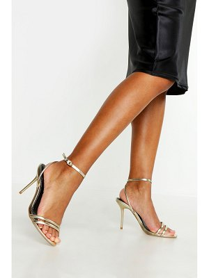 Boohoo Double Strap Metallic 2 Parts