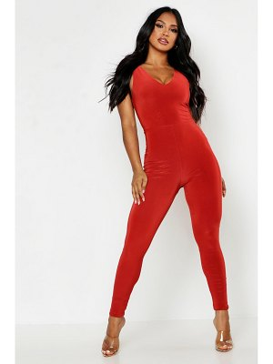 Boohoo Double Up Plunge Front Jumpsuit