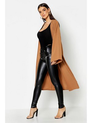 Boohoo Dropped Shoulder Tie Belt Duster