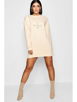 Boohoo New York Tonal Sweat Dress